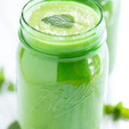 Minty Pineapple Cucumber Green Smoothie