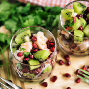 Shrimp, Kiwi and Pomegranate Verrines